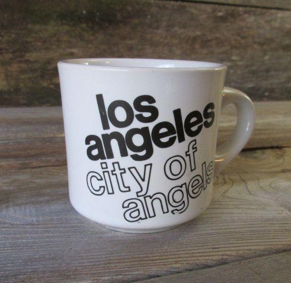 Retro Los Angeles California Mug by WhatsNewOnTheMantel on Etsy, $9.00
