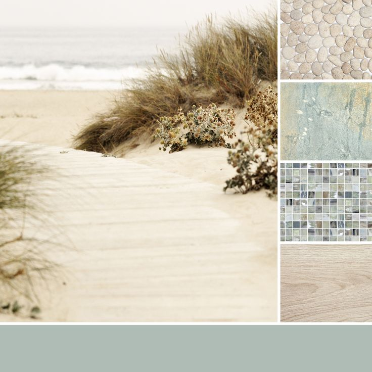 A color palette inspired from sandy beaches. #thetileshop #inspiration