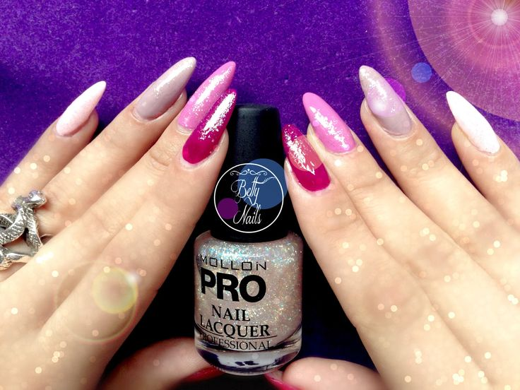 Betty Nails: Mollon Pro Pink Ombree & Peach Sparkle - Dazzling Collection