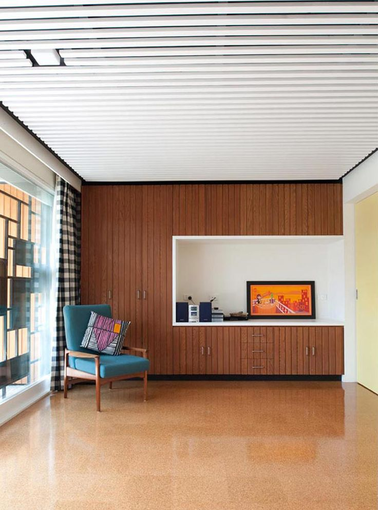 This mid century addition by Nest Architects take place in a small 1963 MCM…