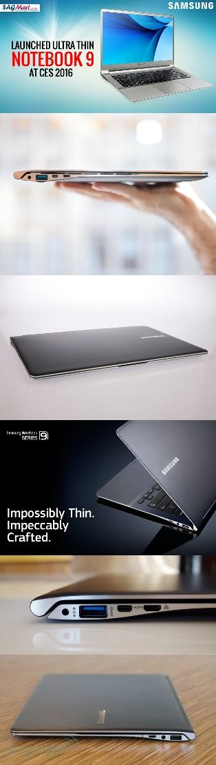 Samsung Notebook 9 ultra-light, ultra-thin laptop series launched at CES 2016 ‪#‎SagmartTechNews‬ ‪#‎Samsung‬ Samsung Mobile