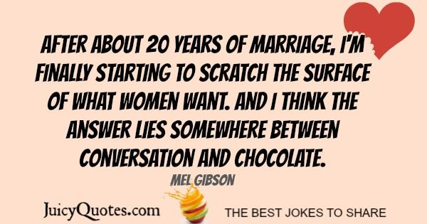 Happy Anniversary Quote - Mel Gibson