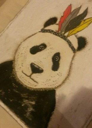 Nakupka platĕná, režná s pandou