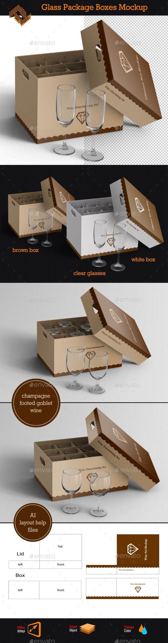 Download Glass Package Boxes Mockup Box Mockup Box Packaging Mockup