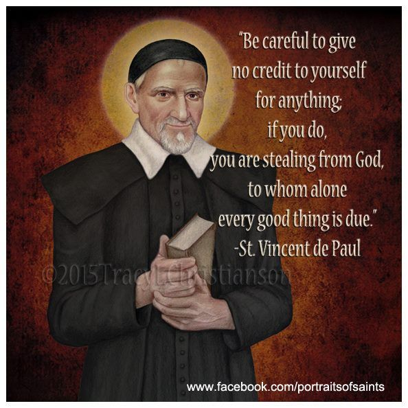 "St. Vincent de Paul was a priest who dedicated himself to serving the poor. He was canonized in 1737. De Paul was renowned for his compassion, humility, and generosity and is known as the ""Great Apostle of Charity."""