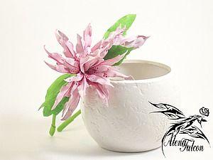 Лепим махровую лилию Magic Star из фоамирана | Ярмарка Мастеров - ручная работа, handmade