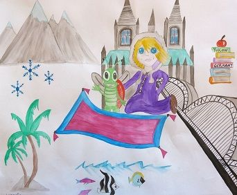 A long time ago in the Land of Snow A little girl found a bug, Atop her magic carpet (which was really just a rug) They flew together far and wide Hand in wing, side by side.