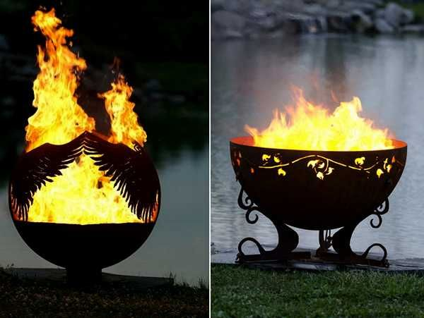 Fabulous Fire Pit Globes Adding Unique Yard Decorations to ...