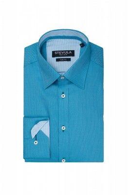 Tyrkysová pánska košeľa