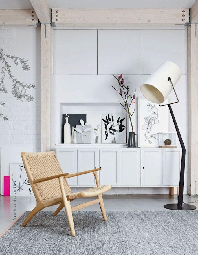 CH25 easy chair, FORK lamp DIESEL with #Foscarini #Tdtesta