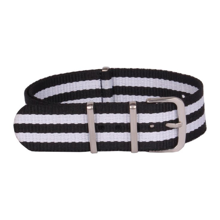 >> Click to Buy << Wholesale 22 mm Multi Color Black White Army Sports nato Nylon watchband Watch Strap Wristwatch Band Buckle fabric belt 22mm #Affiliate
