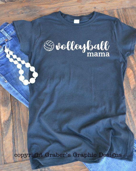 Pallavolo mamma graphic t-shirt-mamma di t-shirt - mamma pallavolo - grafico della donna t-shirt