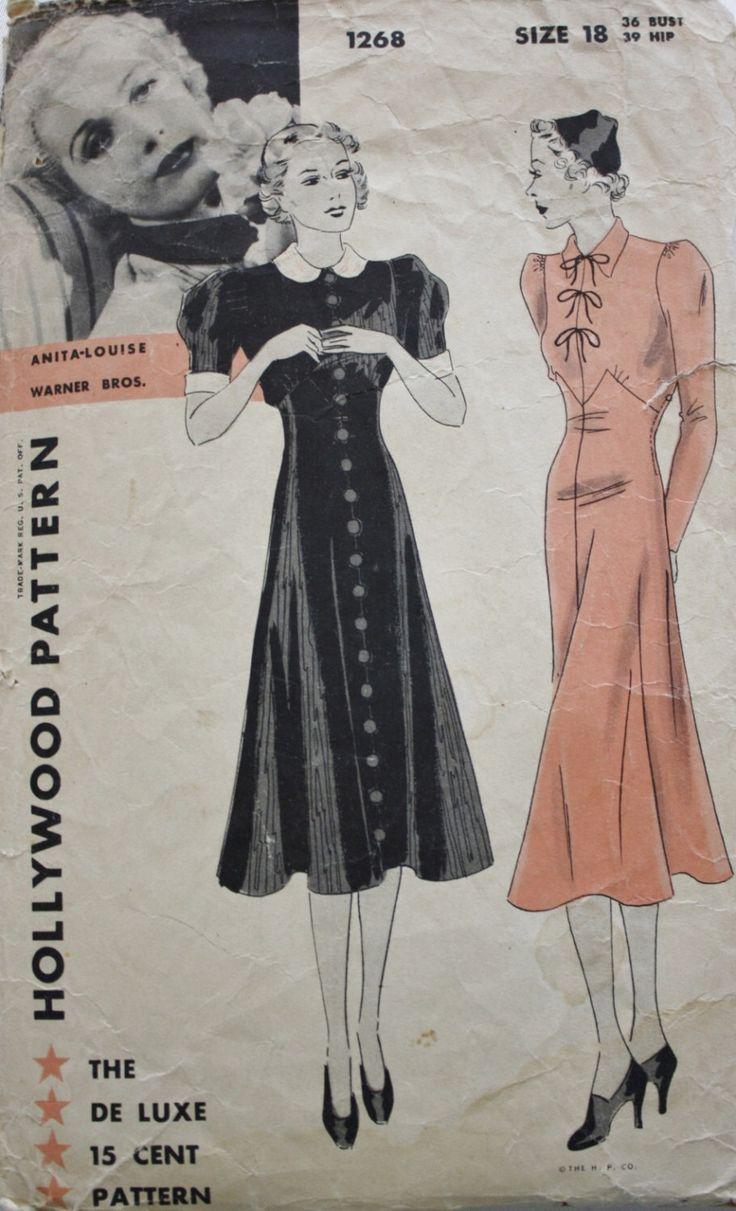 anni trenta Abito da sera modello Hollywood 1268 Anita Louise Art Deco abito Vintage cartamodello Busto 36 di BluetreeSewingStudio su Etsy https://www.etsy.com/it/listing/218235406/anni-trenta-abito-da-sera-modello