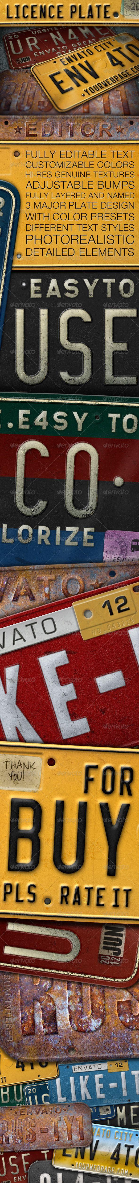 License Plate Editor
