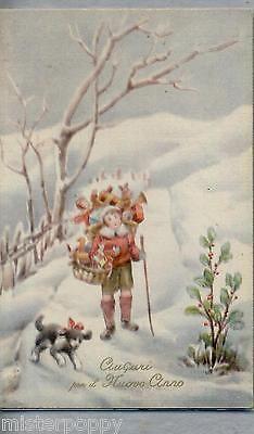 Bambino Giocattoli Buon Anno Illustratore Italiano PC Circa 1930 Childrens