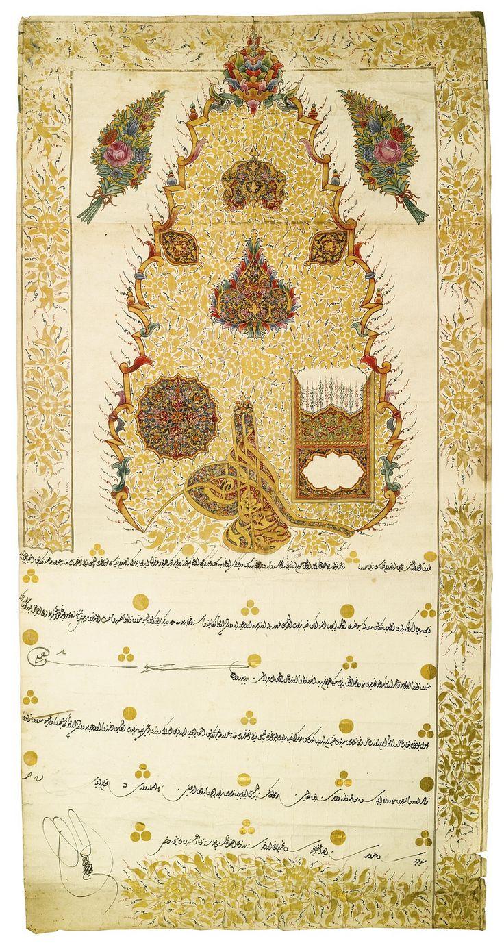 OTTOMAN FIRMAN WITH THE TUGHRA OF SULTAN MAHMUD II (R.1808-39), TURKEY, DATED…
