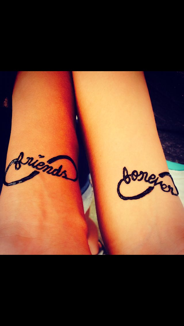 friends forever infinity henna tattoos