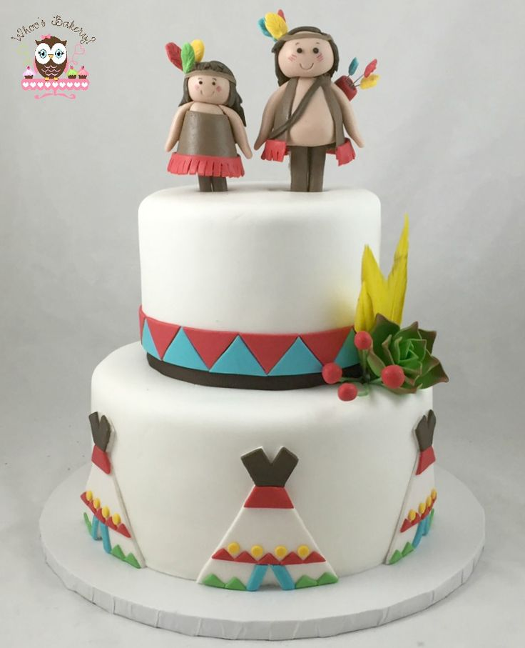 Indian Cake, Tee Pee Cake, Feather Cake, cowboys and Indians cake
