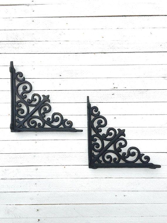 Cast Iron Metal Wall BracketsPlant HangersShelf by TheIronNook