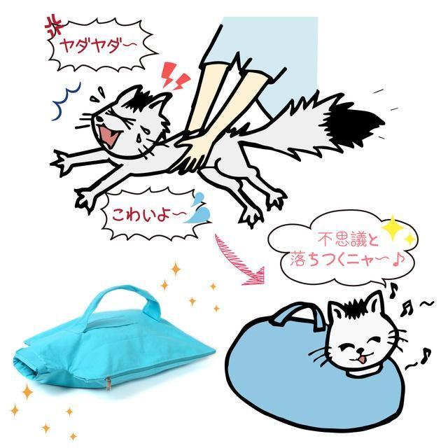 猫飼いさんに 猫が落ち着くキャリーバッグ ネコのお守り袋 が便利そう 通院や災害 瓜切りのときにも役立つよ Pouch ポーチ 猫 ネコ ペット