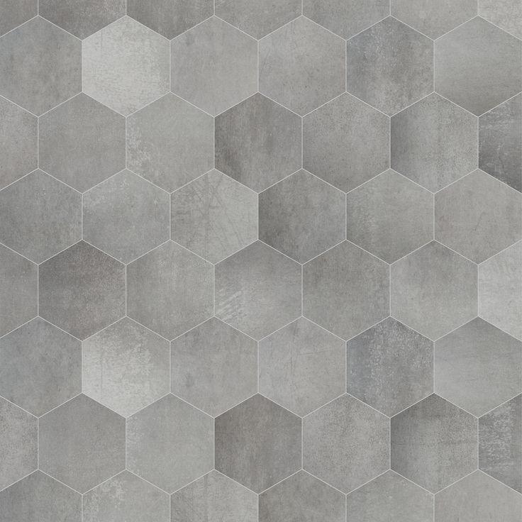 Aarding Van De Badkamer ~ Sphinx concrete hexagone Strak betondesign, keramiek in een retro