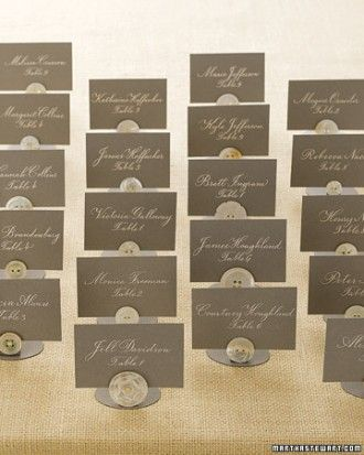 "See the ""Button Seating Cards"" in our DIY Seating Cards and Displays gallery"