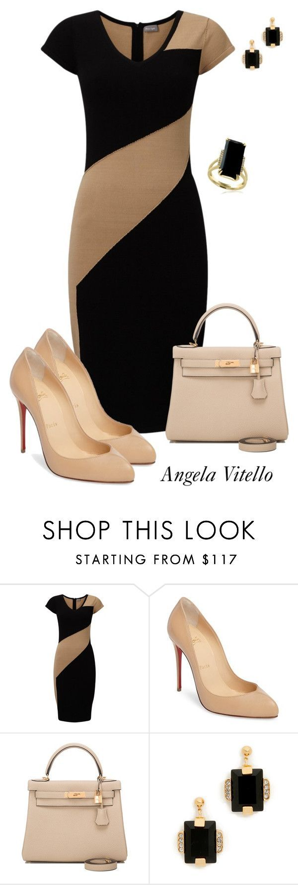 """""""Untitled #924"""" by angela-vitello on Polyvore featuring Phase Eight, Christian Louboutin, Hermès, Marni and Effy Jewelry"""