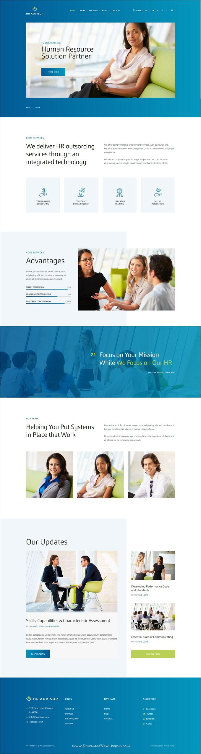 HR Advisor Is Clean And Modern Design 3in1 Responsive #bootstrap Template  For #corporate Consulting
