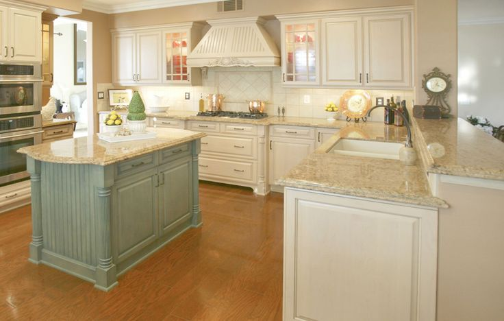 Giallo Veneziano Granite Countertops Blue Green Island
