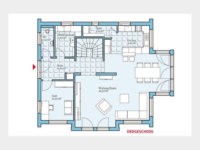 147 best Haus - Architektur images on Pinterest Decks, Facades - grundriss küche mit kochinsel