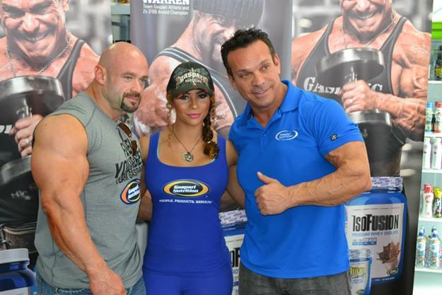 Rich Gaspari and Branch Warren with one of our crew members.
