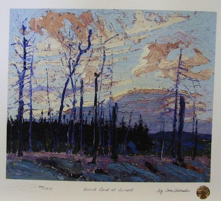 Tom Thomson Burnt Land At Sunset