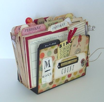 Use a file folder for each with undated calendar to track birthdays/anniversaries and hold cards for the year!