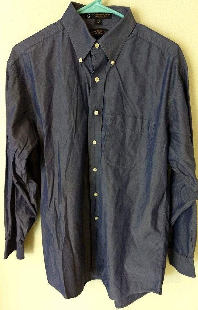 448cf64e TLC TOMMY HILFIGER LS Dress Shirt Size 15 1/2 34 100's 2 Ply Fabric Blue  #fashion #clothing #shoes #accessories #mensclothing #shirts (ebay link)
