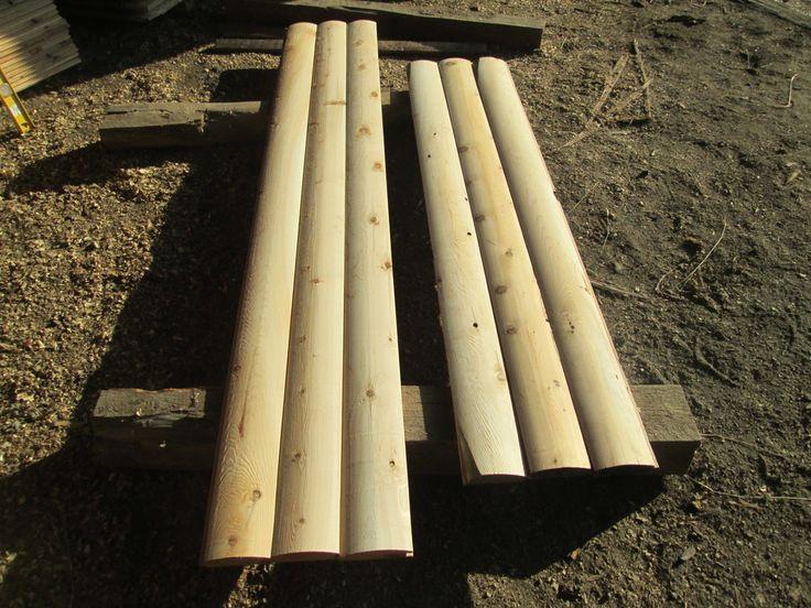 White cedar log siding and logs on pinterest for 2x6 log siding