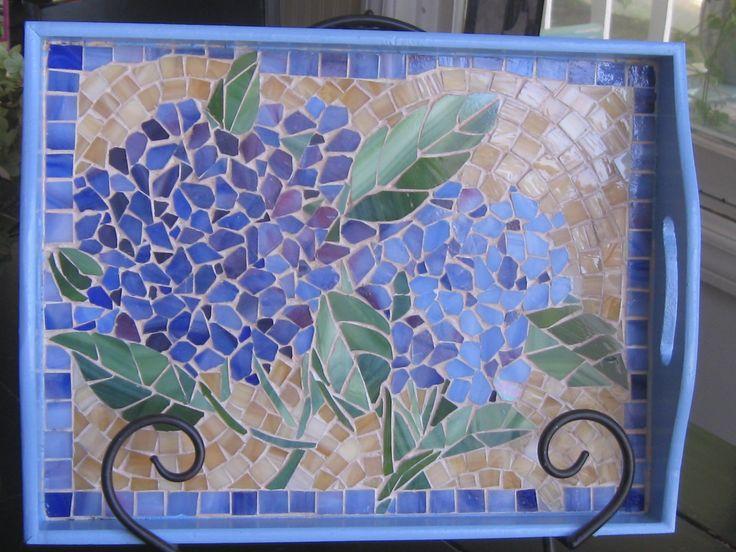 Mosaic Hydrangea tray
