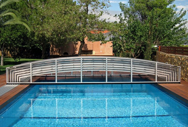 Retractable swimming pool enclosure VIVA made by Alukov a.s.