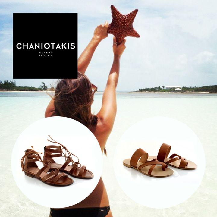 Καλοκαίρι σημαίνει θάλασσα, ήλιος και άνετες εμφανίσεις! Summer means sea, sun and comfortable shoes!  #summer #chaniotakis #shoes #flat #sandals