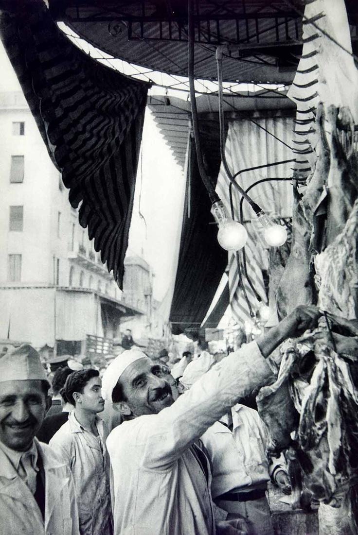 Butcher Shop; 1955 Photogravure Cartier-Bresson Henri Athens Greece Homonia Square Acropolis