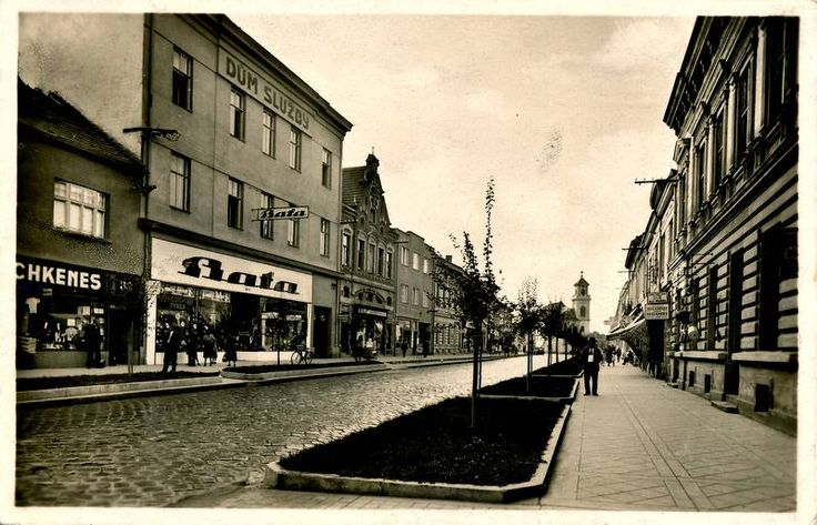 Breclav, Palackeho trida. Czechoslovakia 1937.