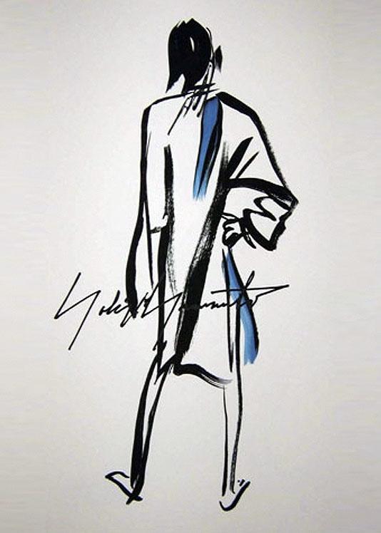 signed lithographs, yohji yamamoto