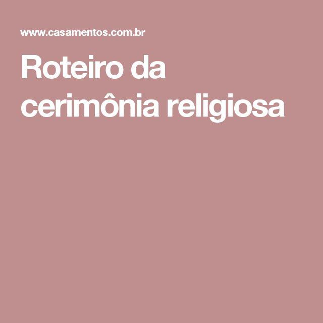 Roteiro da cerimônia religiosa