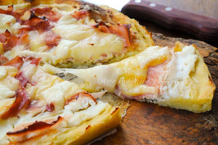 Crostata salata di patate con ricotta e prosciutto