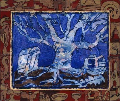 Pierre Alechinsky, Séculaire, 1996, acrylique sur toile, 158 x 186 cm