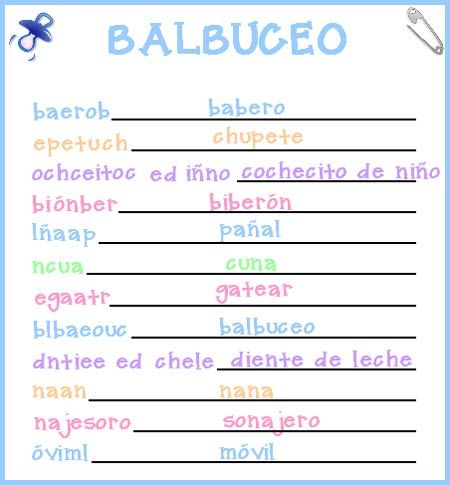 Juegos de baby shower para imprimir con respuestas - Imagui | Baby ...