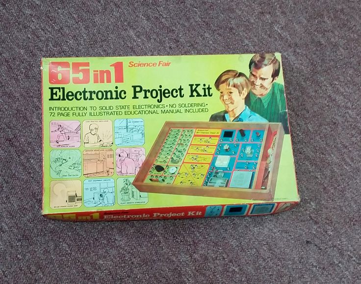 Vintage Science Fair 65 in 1 Electronic Project Kit 70's Mid Century Learning Toy Electronics Board w Wood Box Base Large Book Instructions by OffbeatAvenue on Etsy