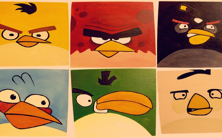 Angry Birds canvas paintings