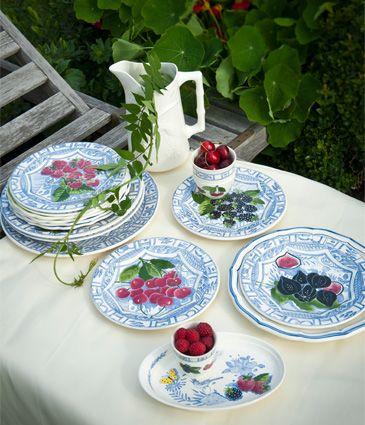 """Zastawa stołowa - Faïencerie de GIEN - """"Collection  Oiseau Bleu"""""""