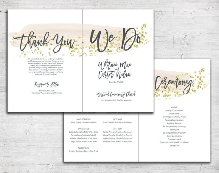 31 Best Bi-Fold Wedding Programs Images On Pinterest | Wedding