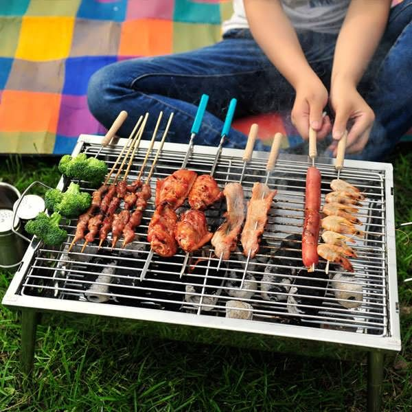 Description   Portable Thickened Outdoor Picnic And Home CharcoalBBQ GrillStainless Steel Folding Grill It is an essential tool for picnic outings ! You can use it to outdoor picnic with friends and family entertainment !  Specification   Size:40cm x 28cm x 21cm Please...